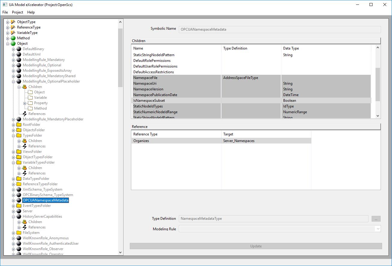 Screenshot of UA Model eXcelerator (UMX)